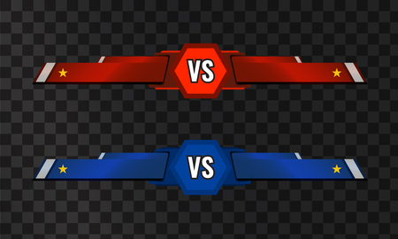 Vector VS versus template on transparent background.