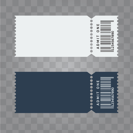 Ticket template design. Trendy blank ticket template layout. Illustrated vector. Illustration
