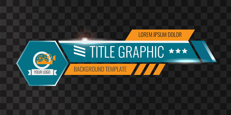 Video headline title or lower third template. Creative banner design for video. Illustration