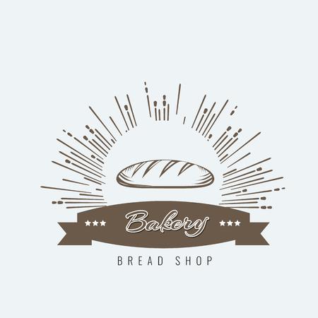 Vintage hand drawn sketch style fresh bread for bakery design. Vector illustration. Ilustração