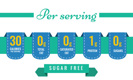 Nutrition Facts information label template for daily food diet. Vector illustration.