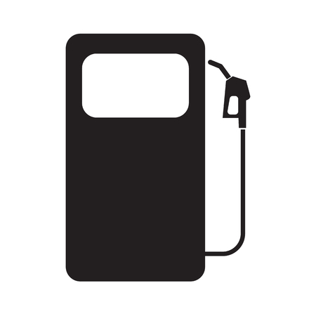 Gas station symbol icon with flat color style design. Vector illustration.