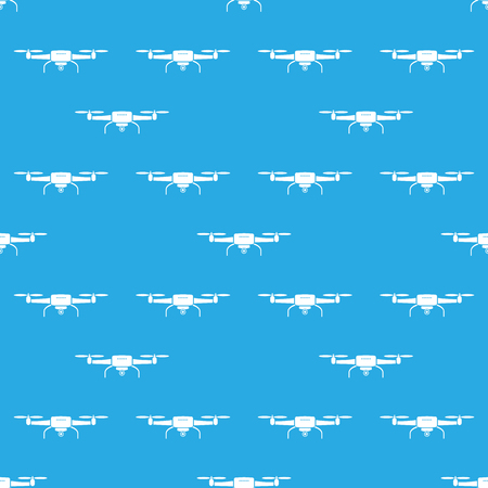 Drones seamless pattern stylish texture. Drone silhouette. Vector illustration.