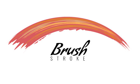 Watercolor brush stroke or acrylic paint smear. Art cover drawing theme symbol. Vector illustration.
