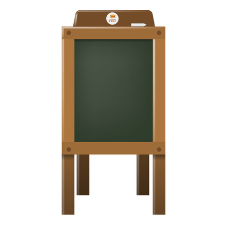 Wooden Empty Blank Advertising coffee shop or cafe wooden Menu Board. High detailed vector illustration.