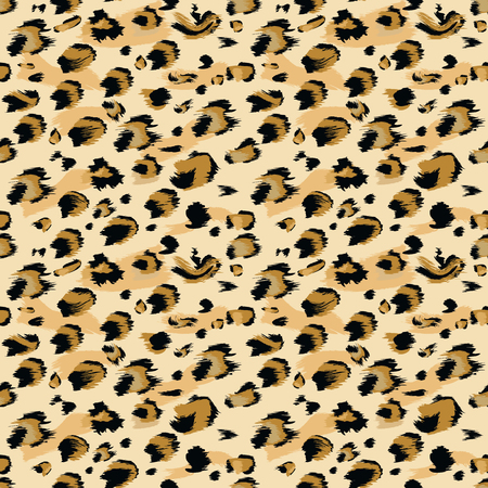 Leopard skin Seamless Pattern. Flat and solid color style Stylized Spotted Leopard Skin Background for Fashion, Print, Wallpaper, Fabric. Vector illustration