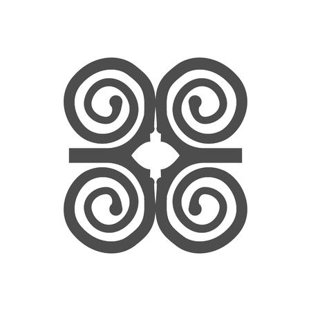 Humility with strength or symbol of wisdowm adinkra symbol. African tribal symbol. Vector illustration. Illustration