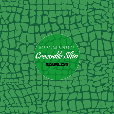Reptile Alligator skin seamless pattern. Crocodile skin texture for textile design. Flat color style vector illustration.
