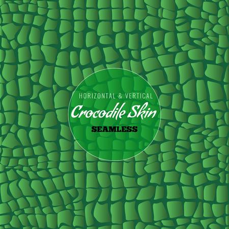 Reptile Alligator skin seamless pattern. Crocodile skin texture for textile design. Vector illustration.