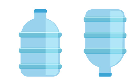Big water bottle for coolers. Mineral water bottle icon isolated. Flat and solid color style vector illustration.