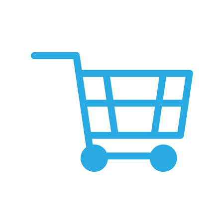 Shopping cart silhouette sign Icon. Online shopping concept. Vector illustration.