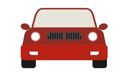 Modern Car emoji with front view. Cartoon style vector illustration. Ilustração