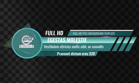 Unique Video headline title or lower third template. Vector illustration - Green color