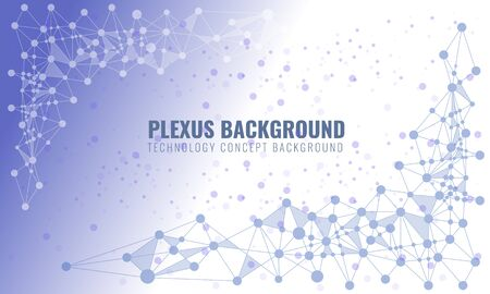 Abstract plexus background with connected lines and dots. Wave flow for your visit card or flyer background. Editable Vector illustration.