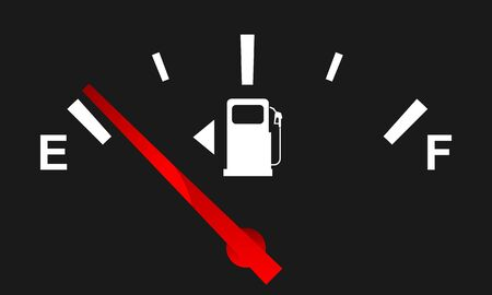 Empty gauge for your design. Full and empty signs. Vector illustration.
