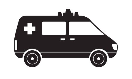 Trendy solid Ambulance icon silhouette. Hospital or medical concept design sign. illustration.