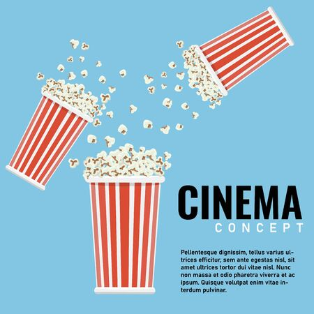 Popcorn for your design with copyspace. Vector illustration. 일러스트