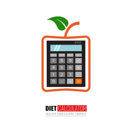 Calorie calculator vector template for your design. Vector illustration.