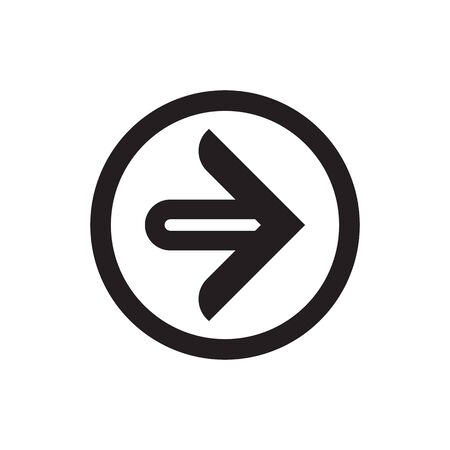 Arrow Icon in trendy flat style with round border. Arrow symbol for your logo or app UI. Vector illustration.