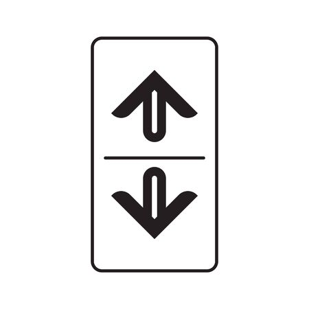 Elevator or lift buttons icon. Up and down elevator buttons. Vector illustration. Illustration