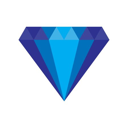 Diamond icon. Brilliant or crystal sign with flat and solid color. Vector illustration.