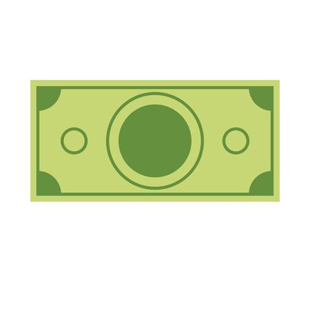 Single dollar icon for your design. Flat and sollid color style vector illustration.