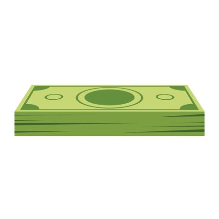 Pile of dollars money for your design. Flat and solid color cartoon style vector illustration. Illustration