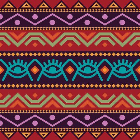 African seamless with adinkra symbols. Antique pattern design.