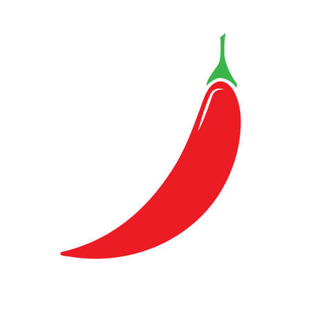 Chili pepper icon. Simple Flat and solid color vector illustration.  イラスト・ベクター素材
