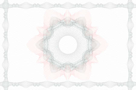 Abstract rosette or guilloche background. Line art Vector Illustration.  イラスト・ベクター素材