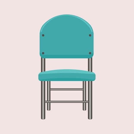 Simple Chair. Flat and solid color style Illustrated vector.