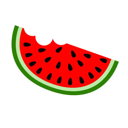 Sliced water melon icon. Healthy food concept. Flat and solid color vector illustration.
