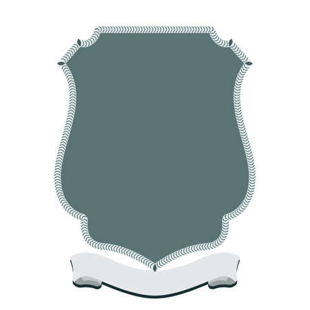 Unique badge with shield style design. Flat and solid color vector illustration.