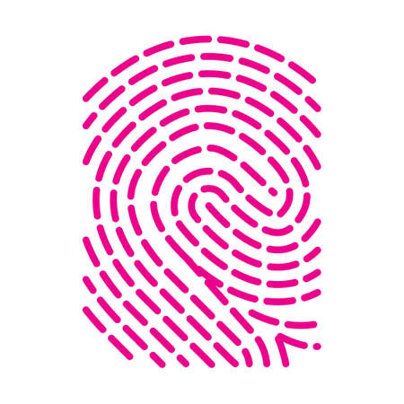 Fingerprint icon. Solid and simple vector illustration.