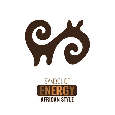 African adinkra symbol Ahoden. Symbol of strength and energy. Flat vector illustration.
