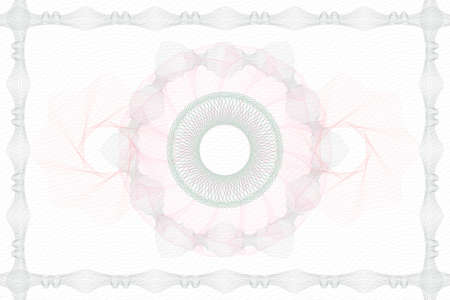 Abstract rosette or guilloche background. Line art Vector Illustration. Illustration