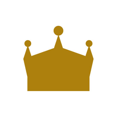 King Crown icon. Simple sign or symbol with gold color. Flat and solid color Vector illustration.