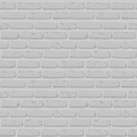 Brick wall Seamless texture. Continuous loop background. Cartoon style flat and solid color vector illustration.