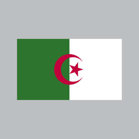 Algeria Flag with high detailed and accuracy. Flat and solid color vector illustration.
