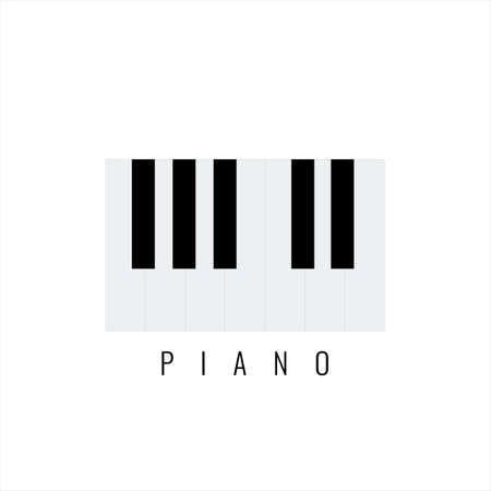 Piano keyboard with minimalistic style for your design. Vector illustration.