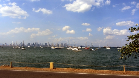 panama city: Panama City, Panama, Causeway Stock Photo