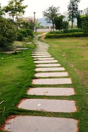 stone path: Park stone path Editorial