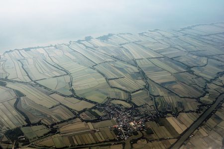 Small Town From Air photo