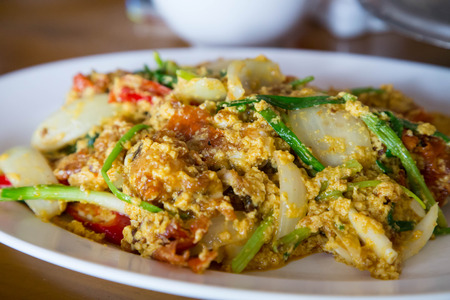 crabmeat curry menu thaifood photo