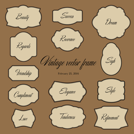 curtsy: Classical vector frame. Vintage.