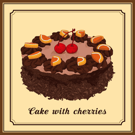 Cake. Dessert. Cooking. Holiday sweets.