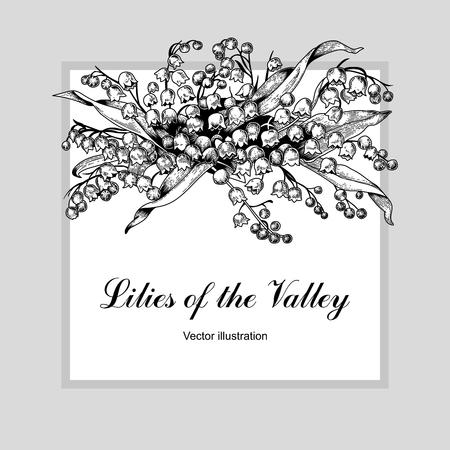 Flowers. Vector illustration in vintage style. Spring postcard. 向量圖像