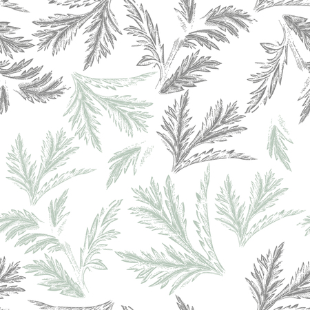 Leaves. Vector seamless background. Floral pattern. Abstraction Ilustrace
