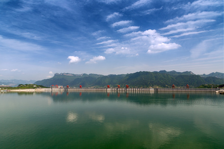 three gorges dam: Upstream of the water of Three Gorges dam