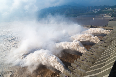 three gorges dam: The three Gorges Dam Stock Photo